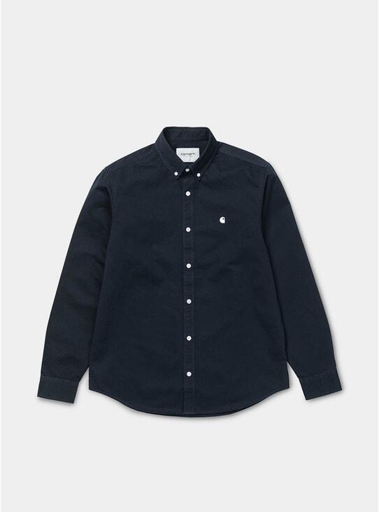 Dark Navy / Wax L/S Maidson Shirt