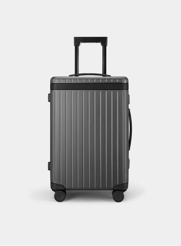 Black / Dark Grey Carry-on Suitcase