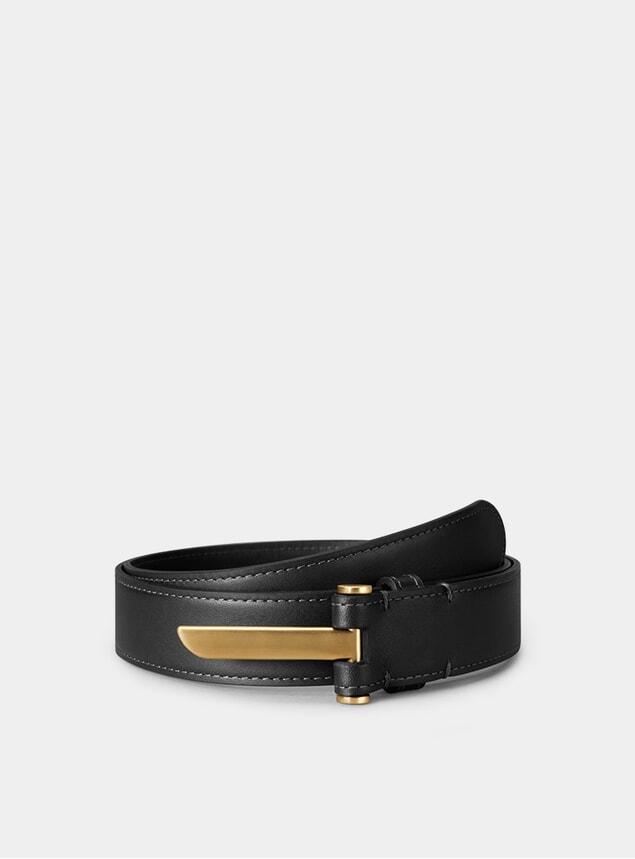 Brass / Black Blade Belt