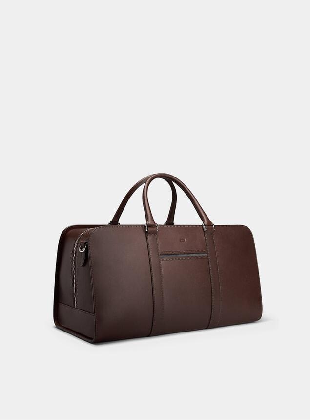 Chocolate / Grey Palissy Weekend Bag