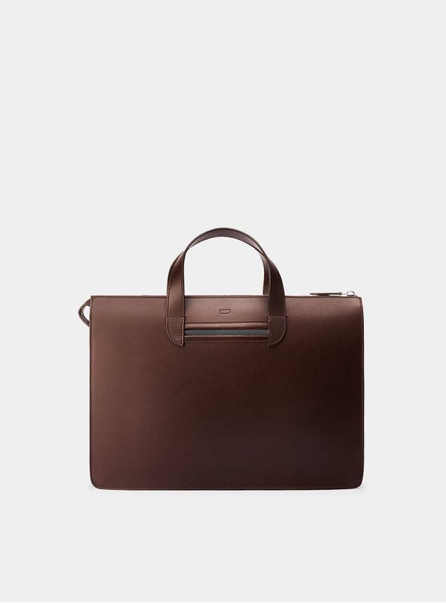 Chocolate / Grey Vallance Briefcase