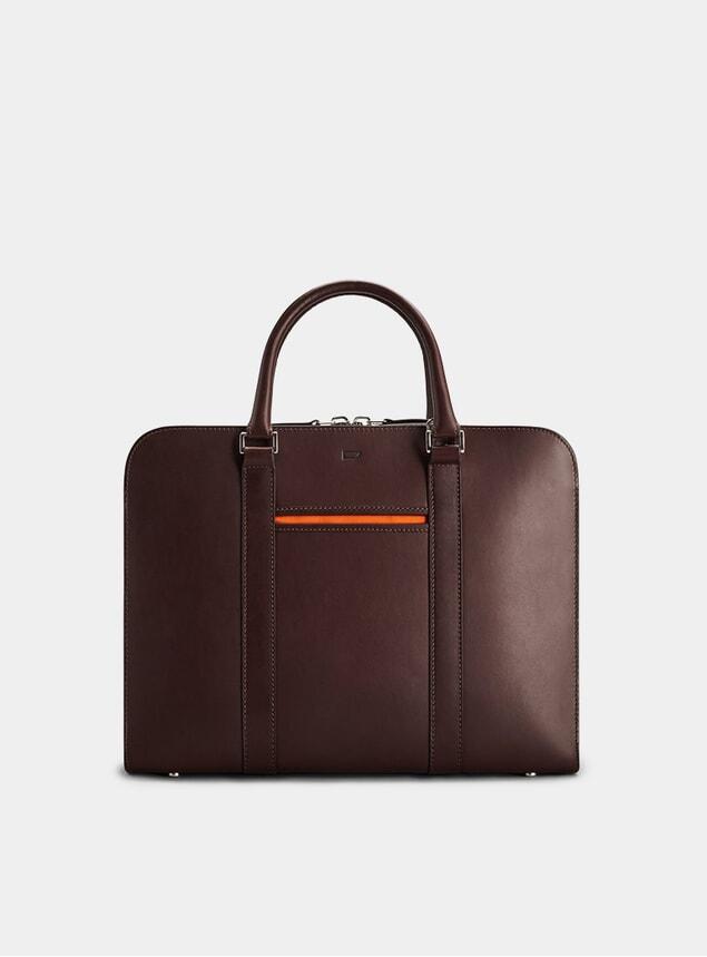 Chocolate / Orange  Palissy Briefcase