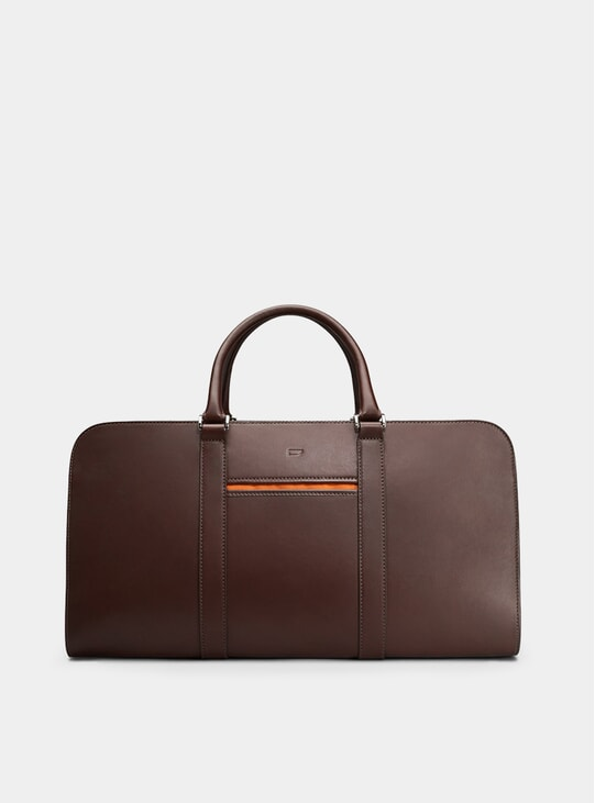 Chocolate / Orange Palissy Weekend Bag