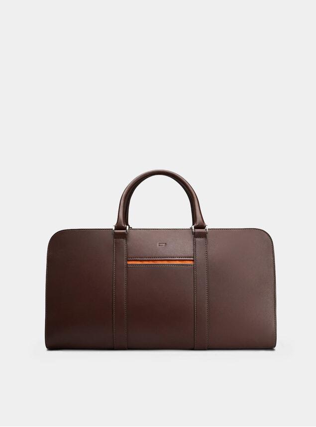 Chocolate / Orange Palissy Weekend Bag