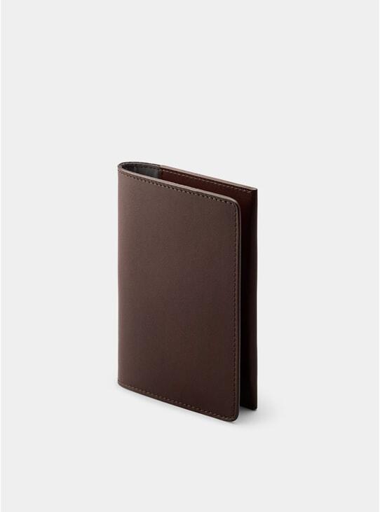 Chocolate Weston Passport Holder
