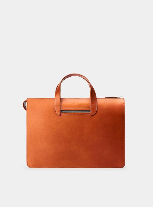 Cognac / Grey Vallance Briefcase