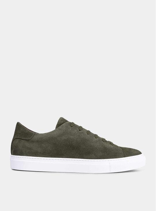 Green Suede Giuseppe Sneakers