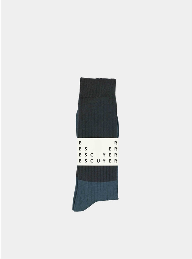 Night Sky / Coral Colour Blocks Socks