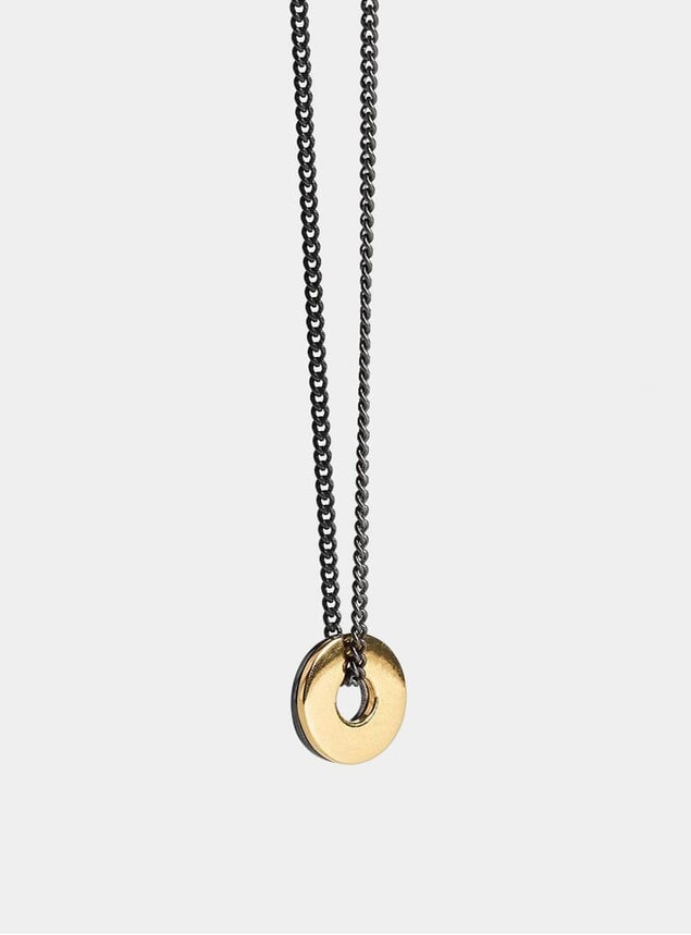 Gold Ruthenium Double Washer Pendant