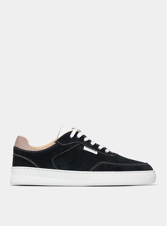 Black Spate Plain Phase Sneakers