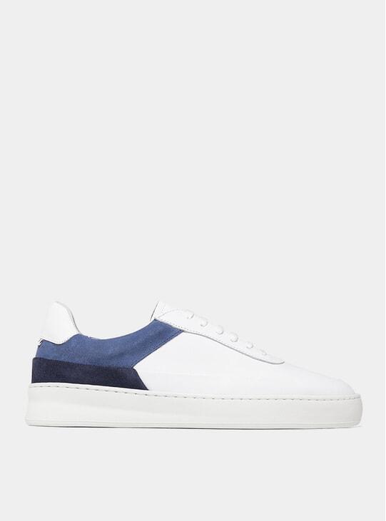 Blue Mono Plain Dual Sneakers