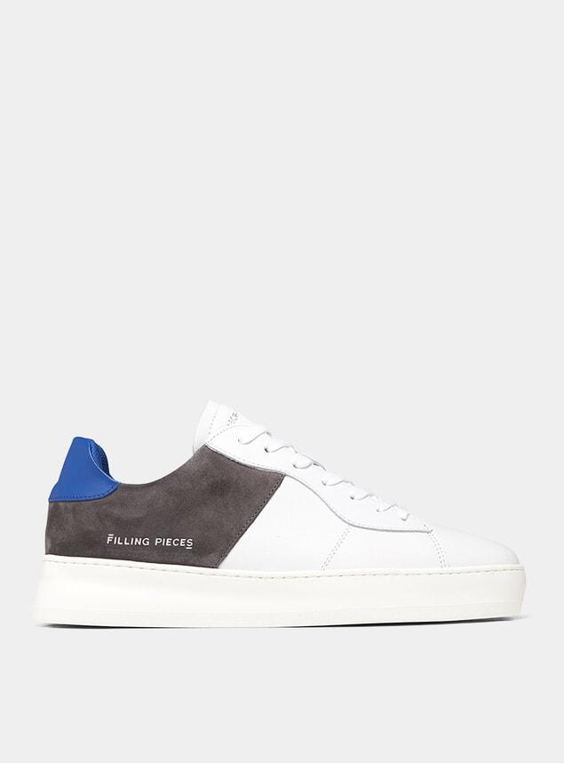 Dark Grey Low Plain Court Sneakers