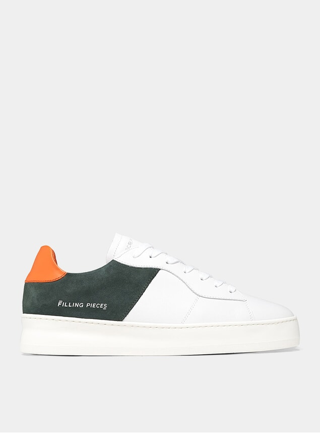 Green Low Plain Court Sneakers