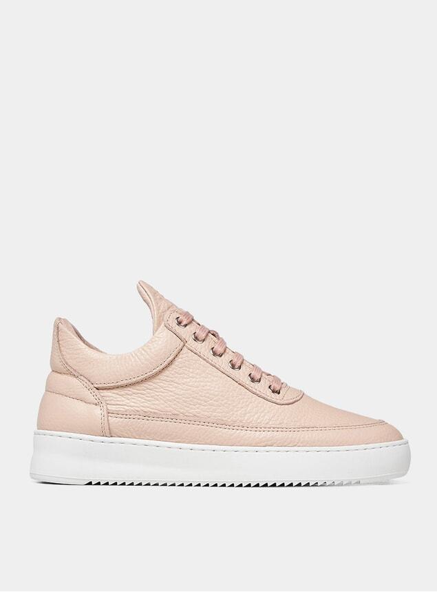 Pink Light Grain Low Top Ripple Sneakers