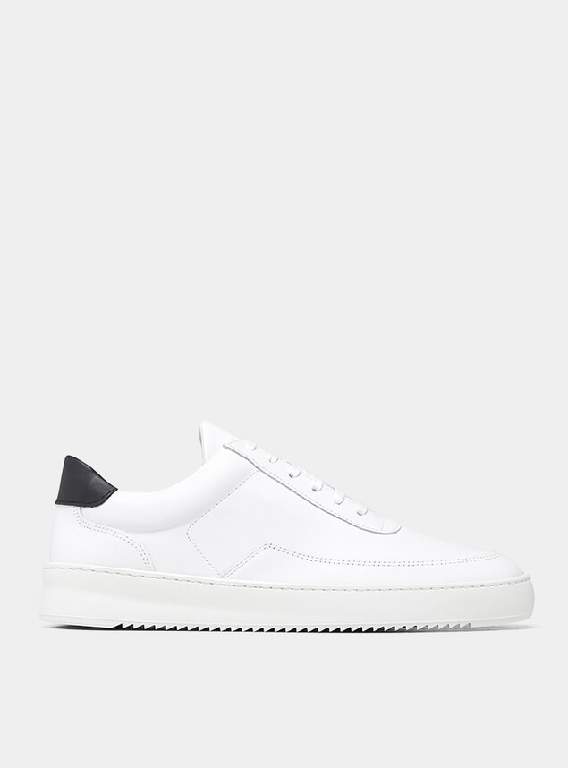 White / Black Mondo Ripple Sneakers