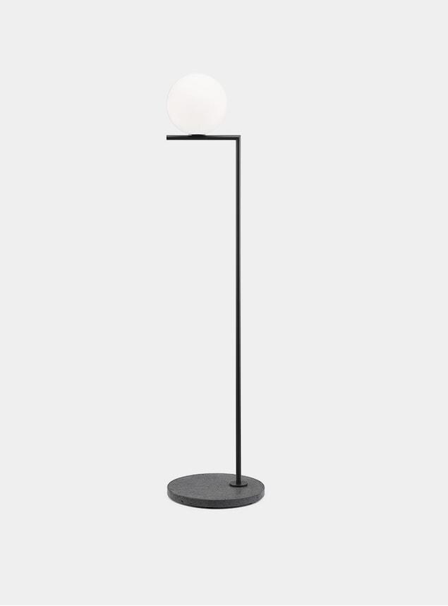 Black / Black Lava Base IC F1 Outdoor Lamp