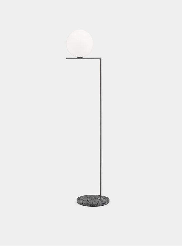 Brushed Stainless Steel / Occhio Stone IC F2 Outdoor Lamp