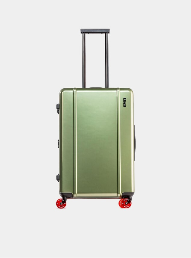 Vegas Green Check-In Suitcase