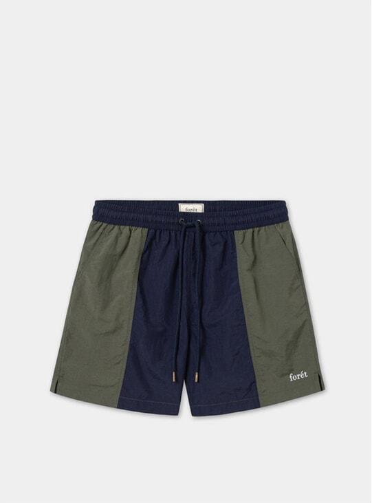 Midnight / Army Sand Track Shorts