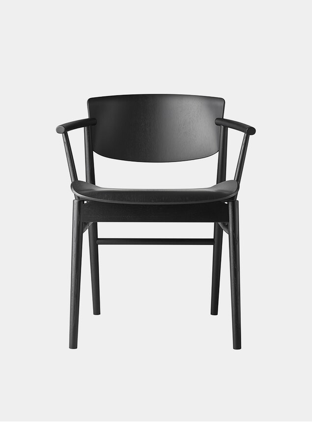 Black Coloured Oak N01 Chair