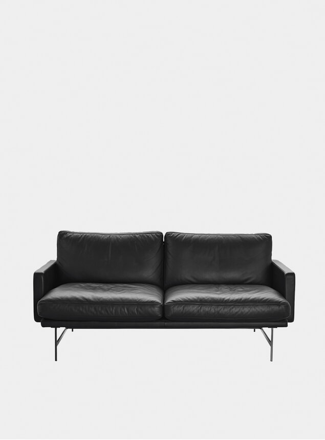 Black Grace Leather Lissoni Sofa