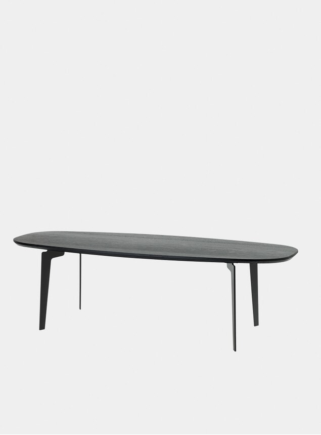 Black Lacquered Solid Oak FH61 Join Table