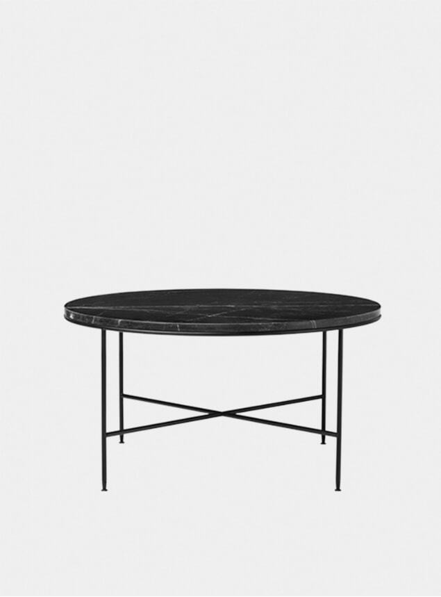 Charcoal Marble Planner Round Coffee Table