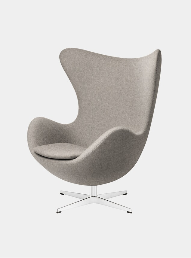 Light Beige Fabric EGG Lounge Chair