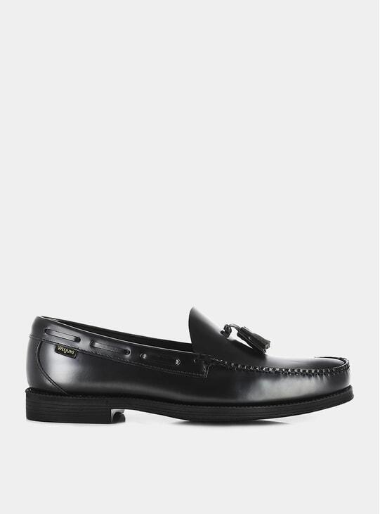 Black Easy Weejuns Larkin Wine Leather Loafers