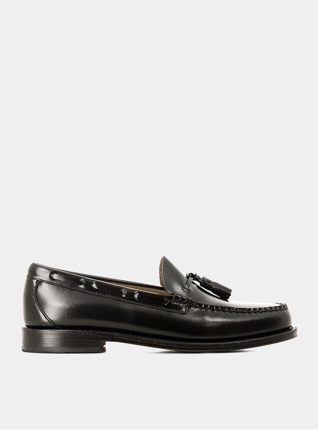 Black Leather Weejuns Larkin Tassel Loafers