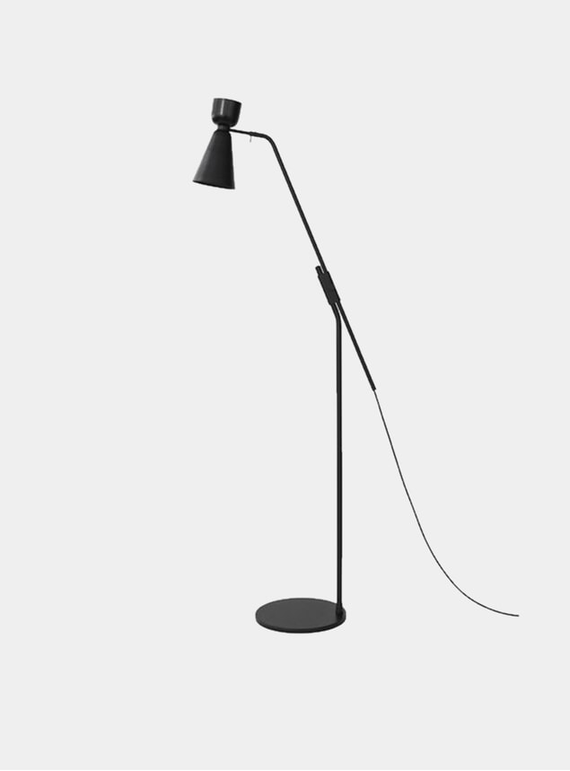 Black Alphabeta Floor Lamp