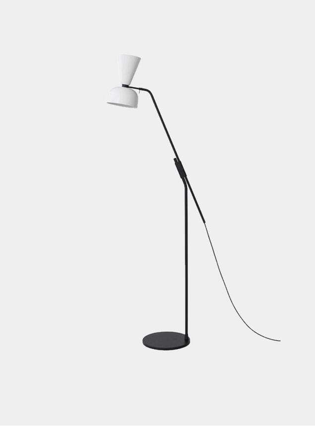 White Alphabeta Floor Lamp