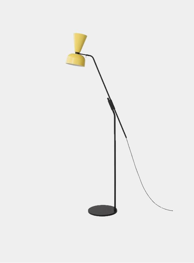 Yellow Alphabeta Floor Lamp