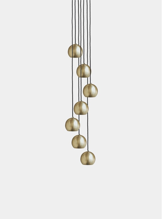 Brass Globe Collection Pendant Lamp