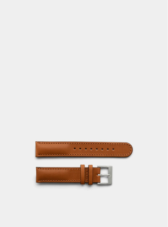 Tan Stitched Leather Watch Straps
