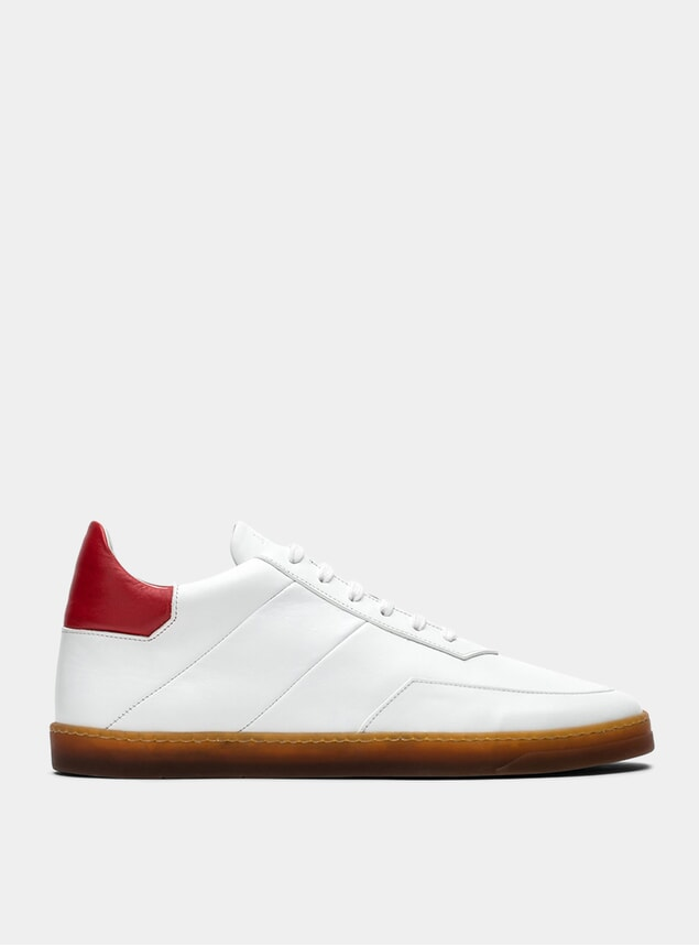 White / Red Atlas Sneakers