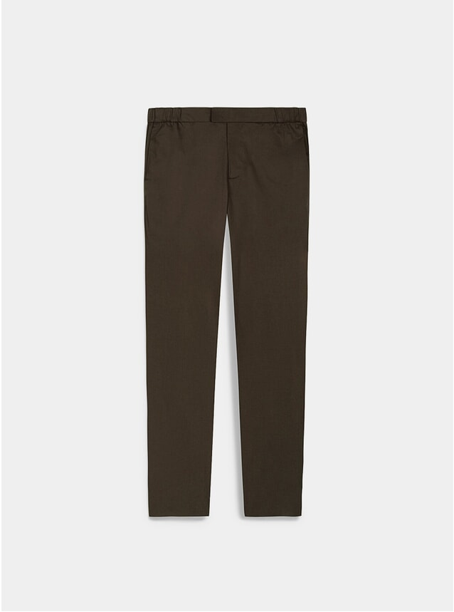 Moss Stretch Cotton 24 Trousers