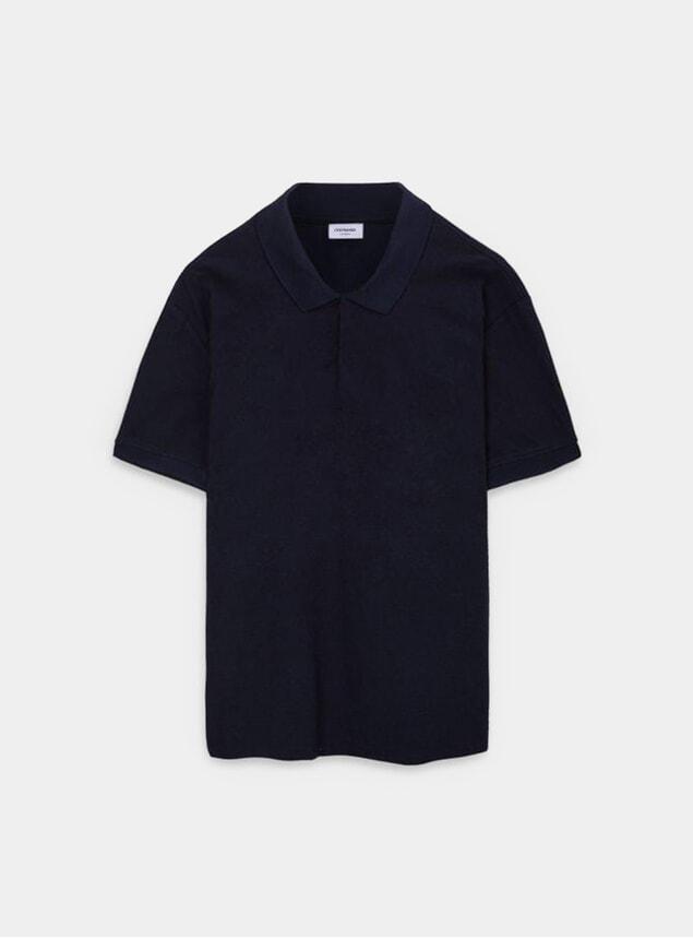 Navy Organic Cotton Polo Shirt
