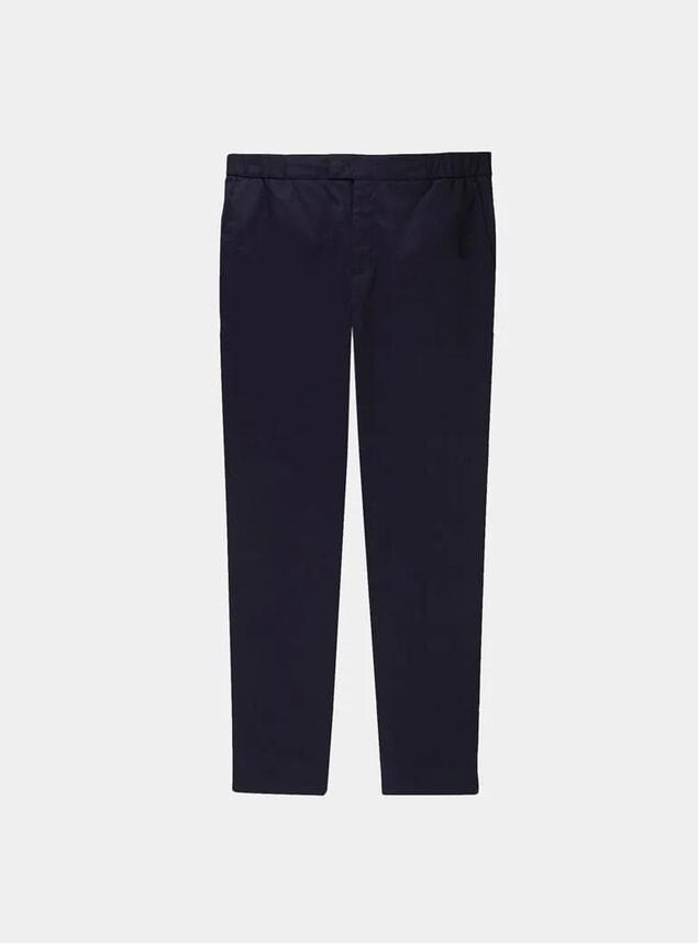 Black Stretch Cotton 24 Trousers