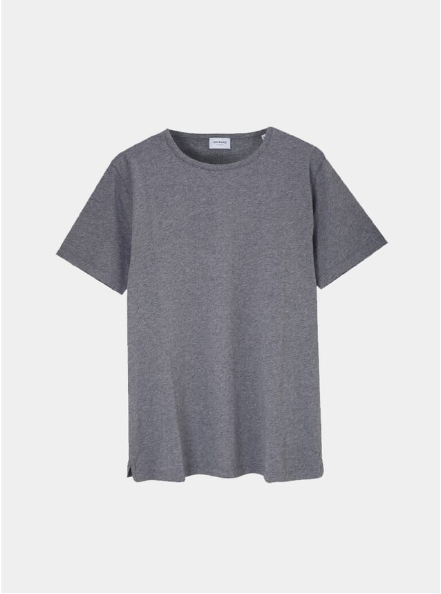 Charcoal Supima Cotton Tailored T Shirt