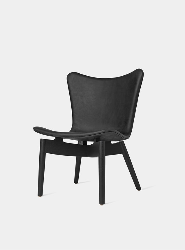 Black Stained Oak / Ultra Black Shell Lounge Chair