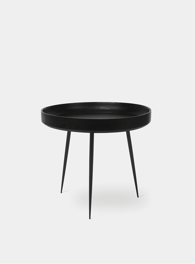 L Black Bowl Table
