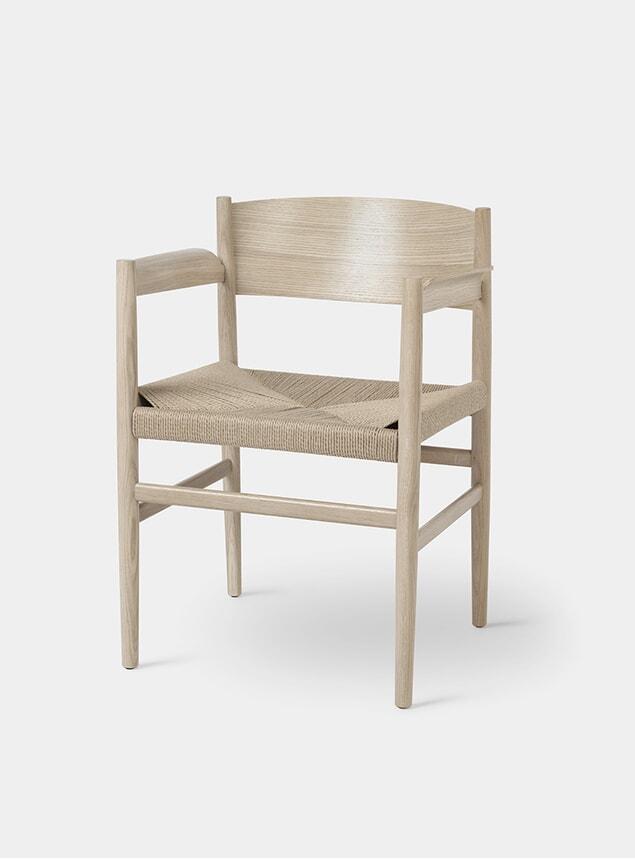 Matt Lacquered Oak / Paper Cord Nestor Chair