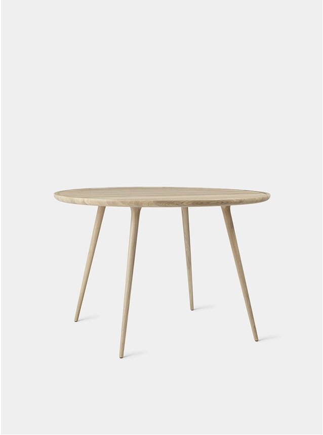 Matt White Lacquered Ø110 Accent Dining Table