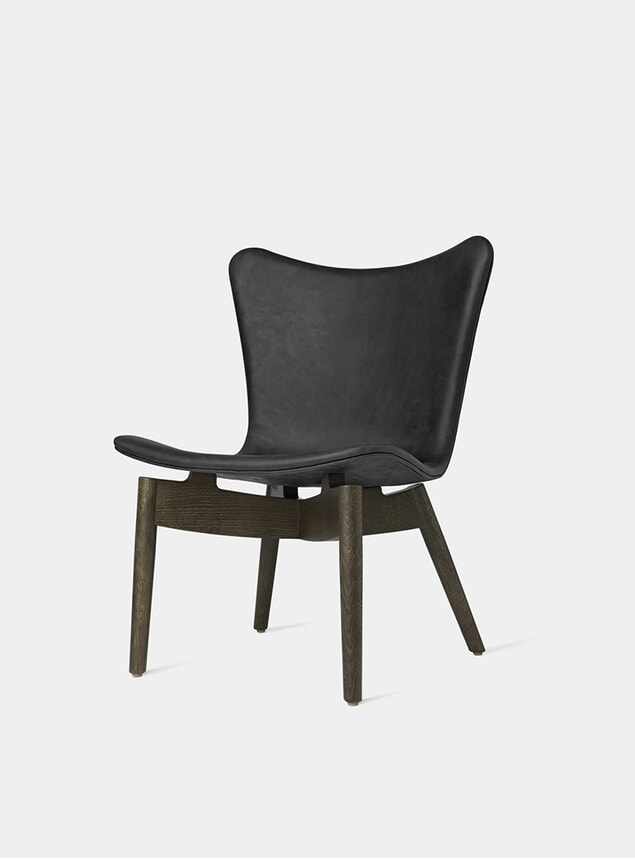 Sirka Grey Stained Oak / Anthracite Black Shell Lounge Chair