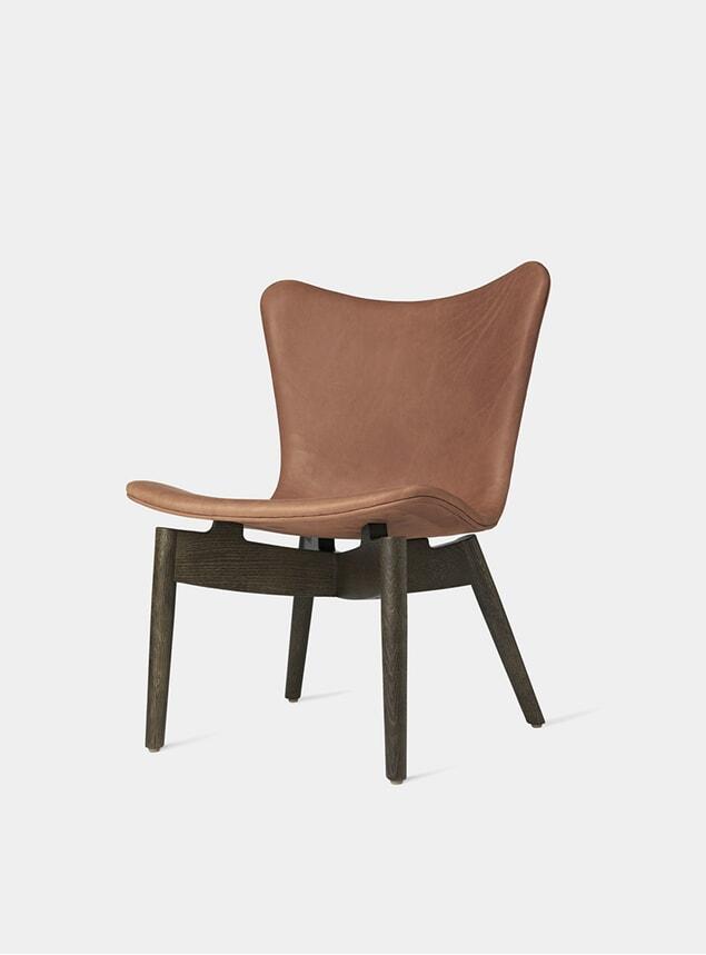 Sirka Grey Stained Oak / Brandy Shell Lounge Chair