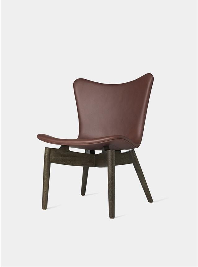 Sirka Grey Stained Oak / Ultra Cognac Shell Lounge Chair