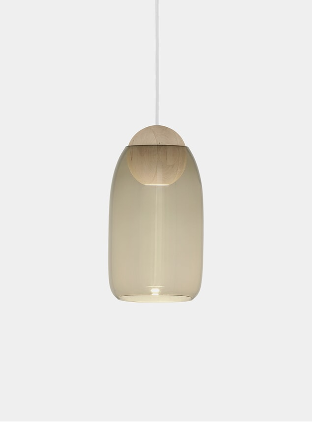 Smoke / Linden Oak Liuku Ball Pendant Lamp