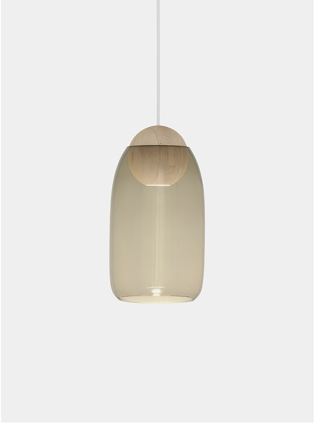Smoke / Linden Oak Liuku Ball Pendant Lamp