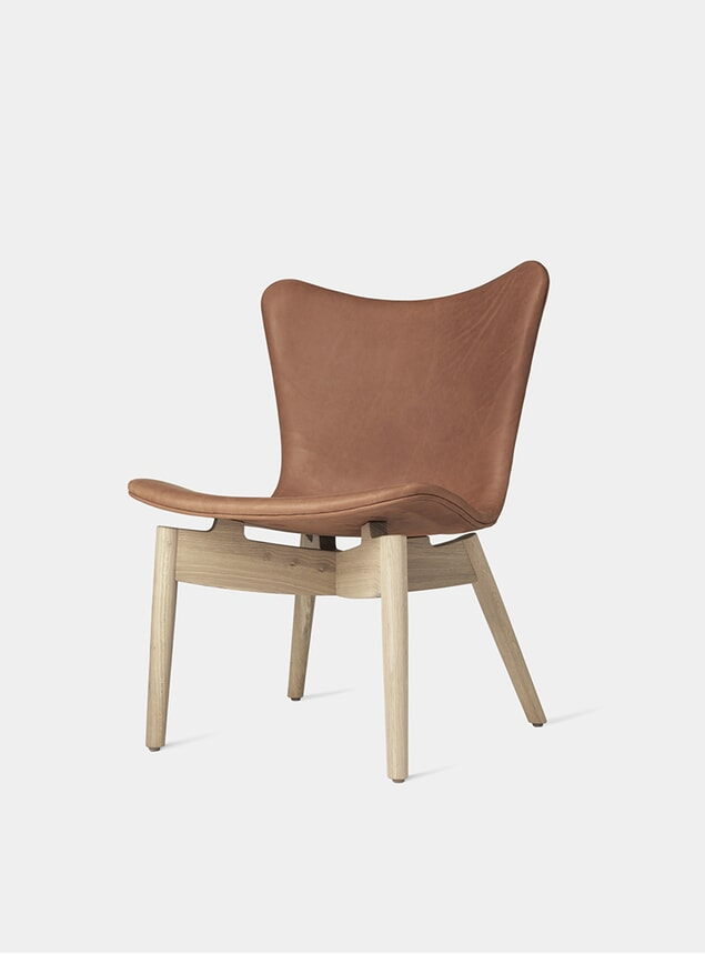 Soaped Oak Frame / Dunes Rust Shell Lounge Chair